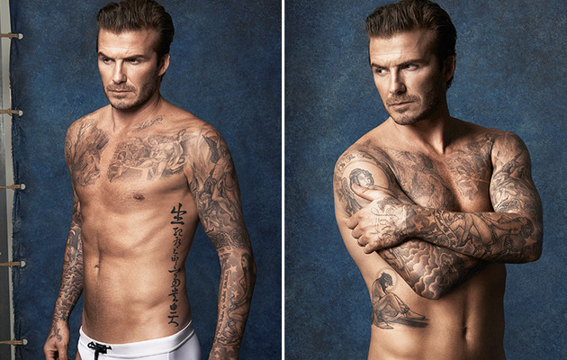 David Beckham Strips Down Again for H&M -- See His Sexy Swimwear Ads!
