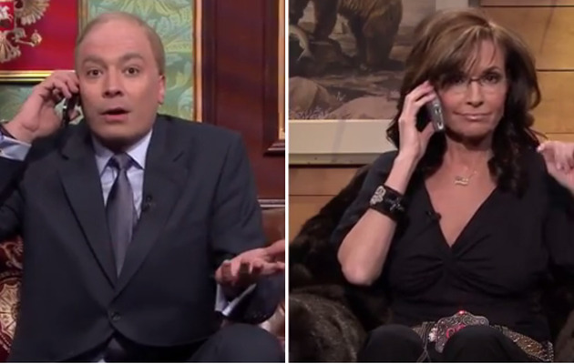 Jimmy Fallon Dresses As Vladimir Putin & Chats With Sarah Palin -- See The Video!