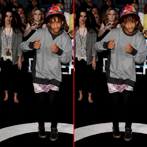 Can you spot the THREE differences in the Jaden Smith picture?