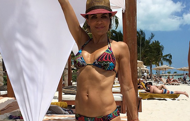 Lisa Rinna, 50, Flaunts Amazing Bikini Body on Family Vacation