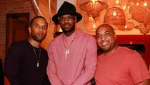 LeBron James -- N.E.R.D.'s Out at Dinner ... With Pharrell's Giant Hat