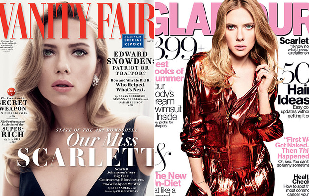 "Scarlett Johansson Talks ""ScarJo,"" Ryan Reynolds Split and Her Fiance!"