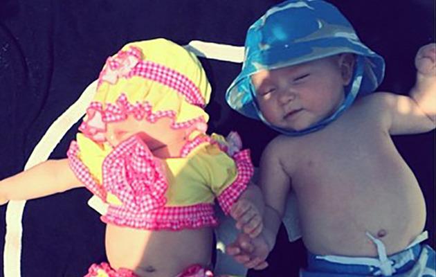 Beach Babies! Kim Zolciak Shares Sweets Pics of Twins Kaia and Kane