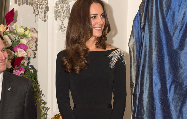Kate Middleton Looks Slim in Stunning LBD at Queen's Portrait Unveiling