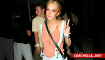 Lindsay Lohan -- Coachella, Here I Come ... But I'm NOT Partying!