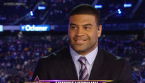 Shawne Merriman -- Negotiating WWE Deal to Announce ... AND WRESTLE!