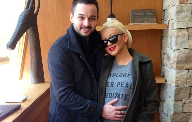 Christina Aguilera Shows Off Baby Bump With Fiance Matt Rutler