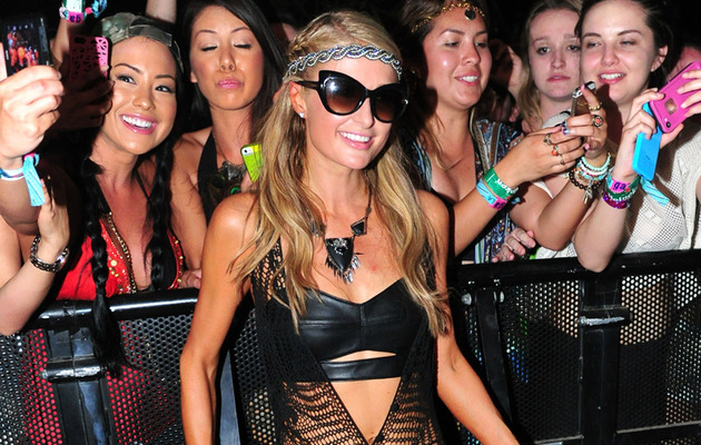 Paris Hilton Wears Sexy See-Through Dress at Coachella!
