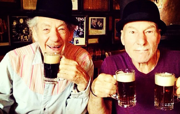 Viral Video: Sir Ian McKellen and Sir Patrick Stewart Play the Newlywed Game