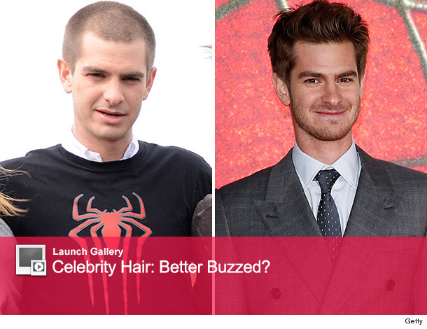 Andrew Garfield Cuts Hair