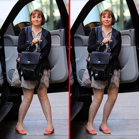 Can you spot the THREE differences in the Lena Dunham picture?