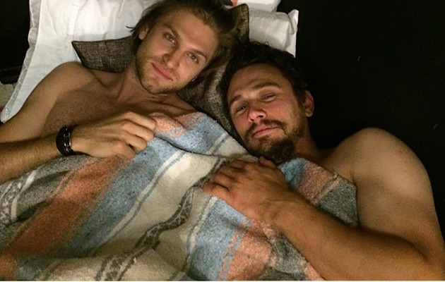 James Franco Goes Shirtless in Bed With Keegan Allen!