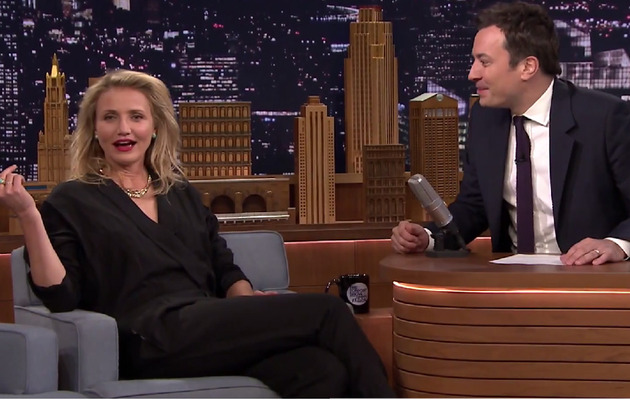 "Watch Cameron Diaz ""Prank"" Jimmy Fallon's Baby Winnie"