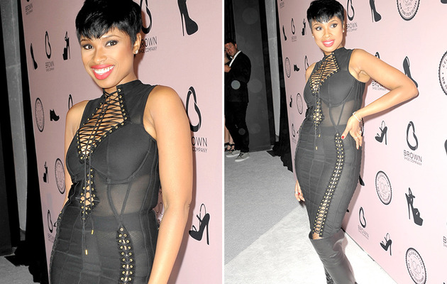 Jennifer Hudson Rocks See-Through S&M Getup -- See Ridic Dress!