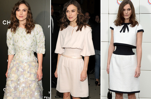 Keira Knightley Flaunts Ridic Skinny Waist In Another Corset Dress