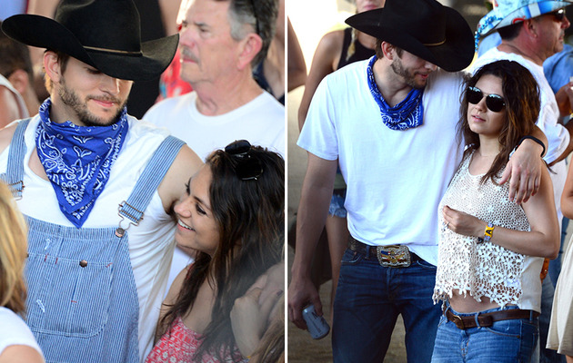Mila Kunis Flashes Bare Baby Bump, Packs on PDA With Ashton Kutcher!