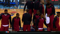 Miami Heat -- Wearing Shirts Inside Out ... To Support Clippers