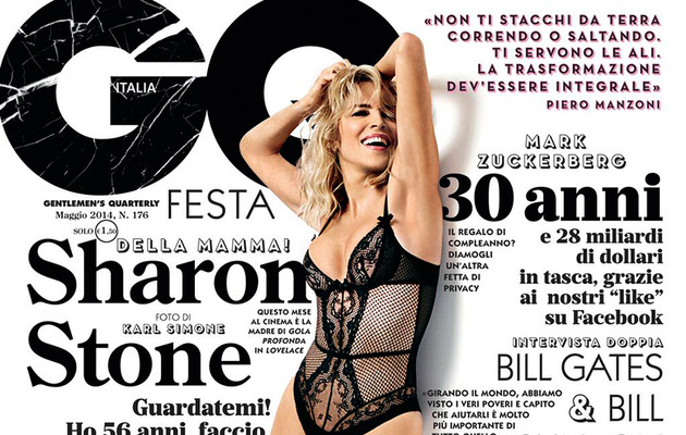 Sharon Stone, 56, Poses in Lingerie on the Cover of GQ Italia