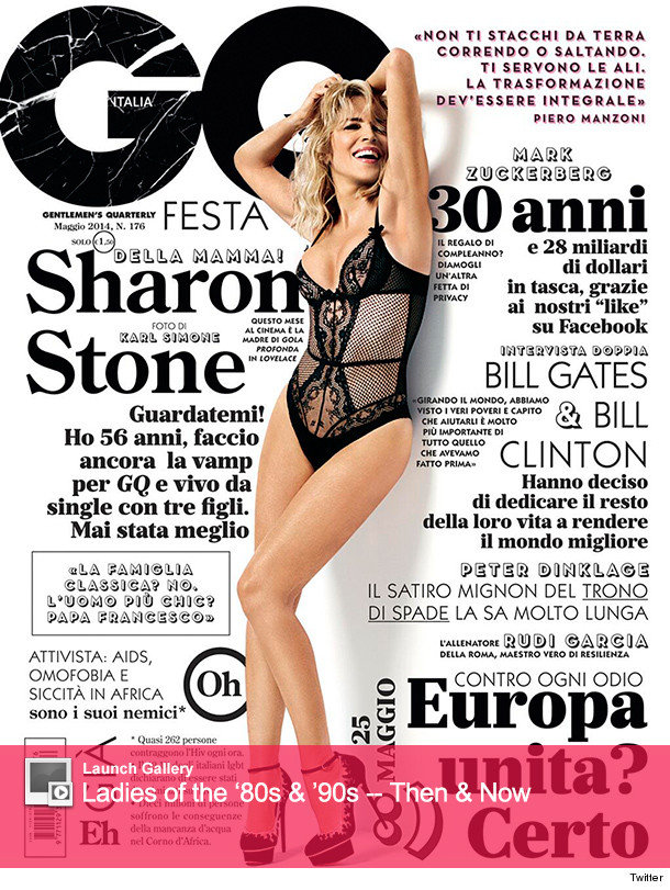 Sharon Stone GQ Italia Cover
