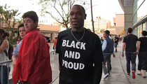 Kenny Lofton -- Wore 'Black and Proud' Shirt ... to Clippers Game