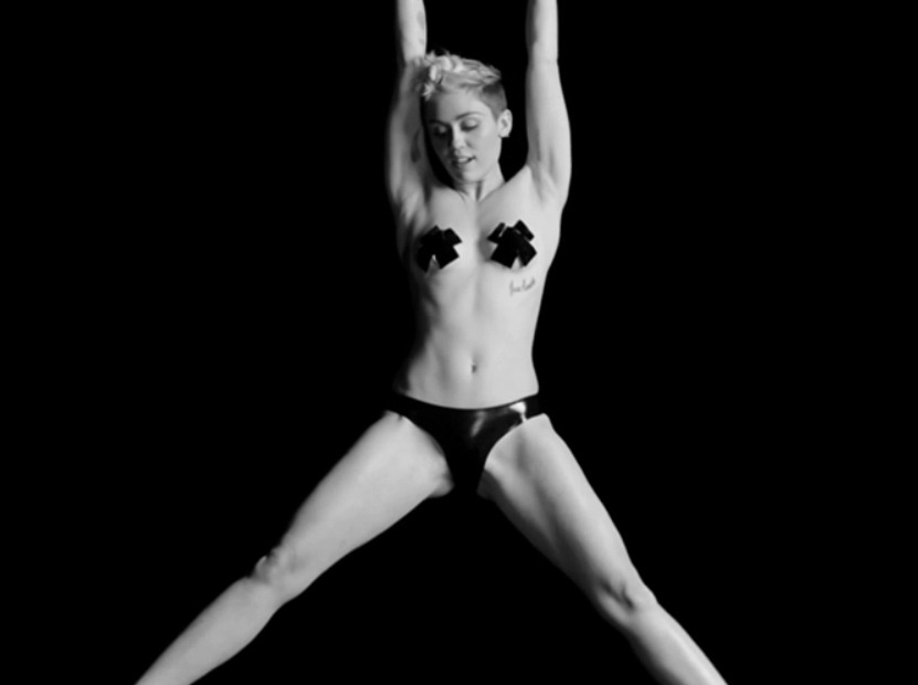 Miley Cyrus Dances Topless In New Concert Video Check It Out Toofab Com