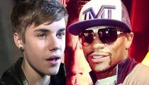 Justin Bieber -- I'LL BE IN FLOYD MAYWEATHER'S CORNER ... Again