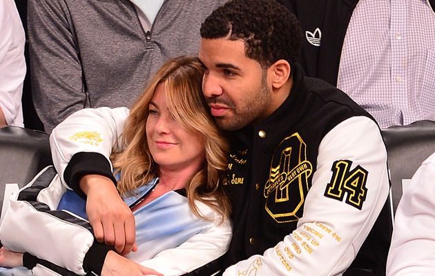Sorry Rihanna! Drake and Ellen Pompeo Get Cozy at Nets Game
