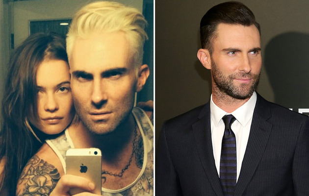 Adam Levine Debuts Platinum Blonde 'Do -- Like the Look?