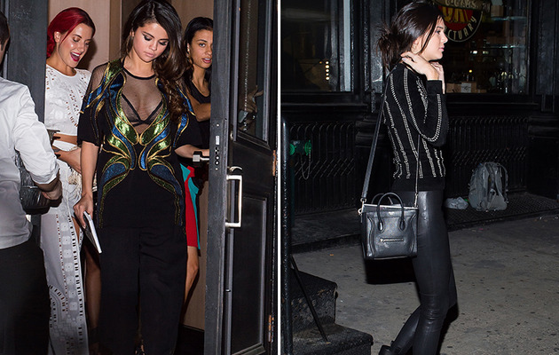 Selena Gomez Flaunts Major Cleavage at Dinner with Kendall Jenner