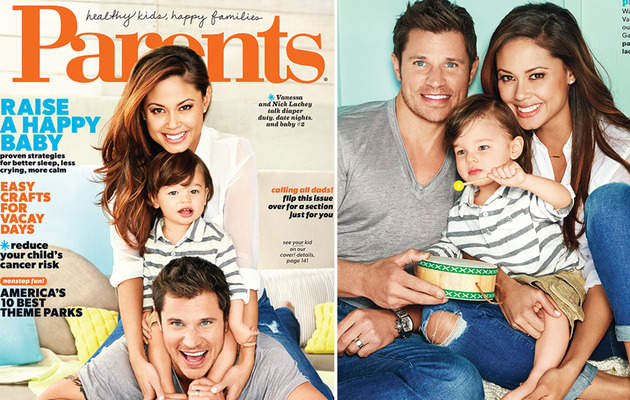 Nick & Vanessa Lachey Cover Parents Mag with Adorable Son Camden
