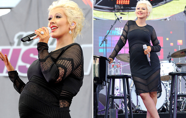 Christina Aguilera Shows Off Baby Bump At KIIS FM's Wango Tango