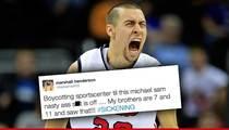 College Basketball Star, Marshall Henderson, BOYCOTTING ESPN ... Over Michael Sam Kiss
