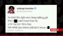 Jay Z and Solange Fight -- Solange 'Explanation' Tweet Is Fake!