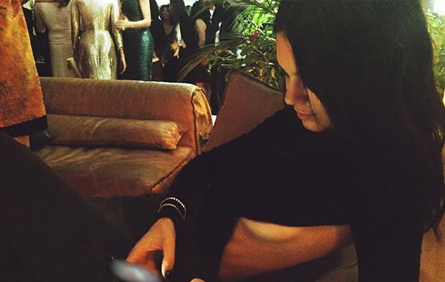 Kendall Jenner Flaunts Major Side Boob in Long Black Gown