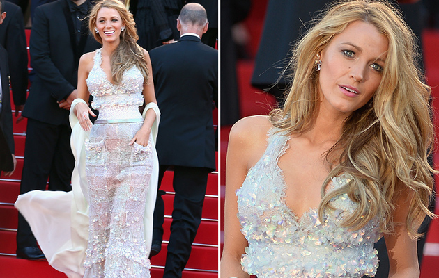 Blake Lively Shows Off Insanely Small Waist in Chanel at Cannes!
