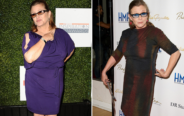 """Star Wars: Episode VII"" Stars Filming, Carrie Fisher Reveals 35-Pound Weight Loss!"