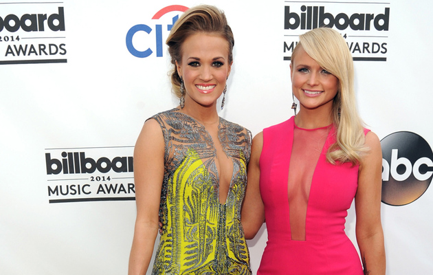 Miranda Lambert & Carrie Underwood Flaunt Major Cleavage at Billboard Music…