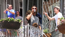 Brad Pitt & Matthew McConaughey Tossing Beers ... with Freakin' DREW BREES