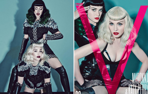 Katy Perry & Madonna Dress As Dominatrixes For V Magazine