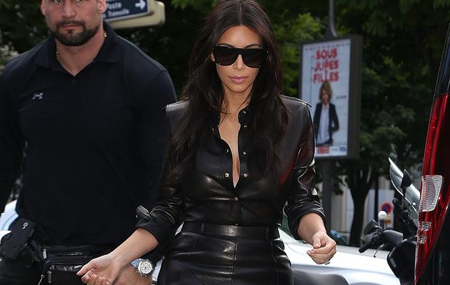 Kim Kardashian Rocks Skin-Tight Leather Dress Days Before Wedding!