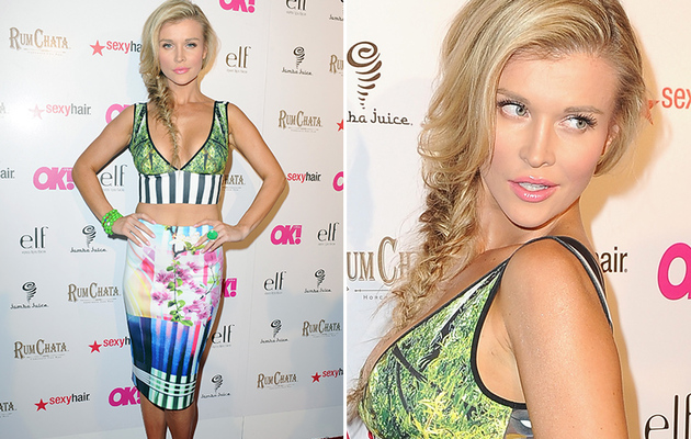 """RHOM"" Star Joanna Krupa Stuns in Sexy Crop Top & Pencil Skirt!"