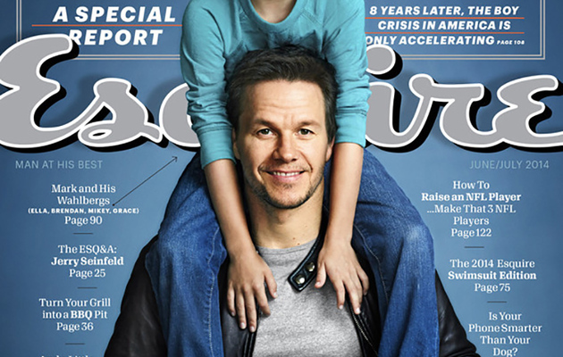 Mark Wahlberg and His Son Cover Esquire's Fatherhood Issue
