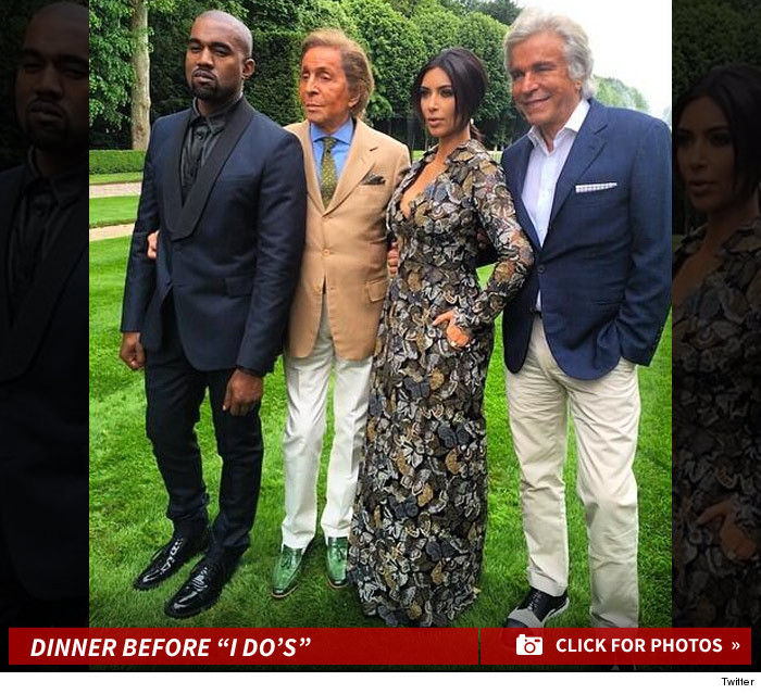 Kim Kardashian And Kanye West Bougiest Pre Wedding Fete Ever Thanks Valentino