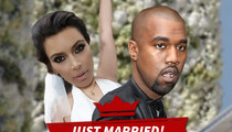 Kim Kardashian and Kanye West -- We're Officially Married