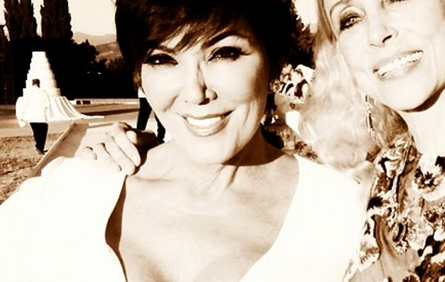 Kris Jenner Flaunts MAJOR Cleavage at Kim's Wedding