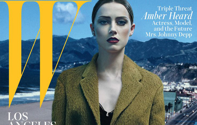 Amber Heard Strips Down to Lacy Lingerie for W Magazine