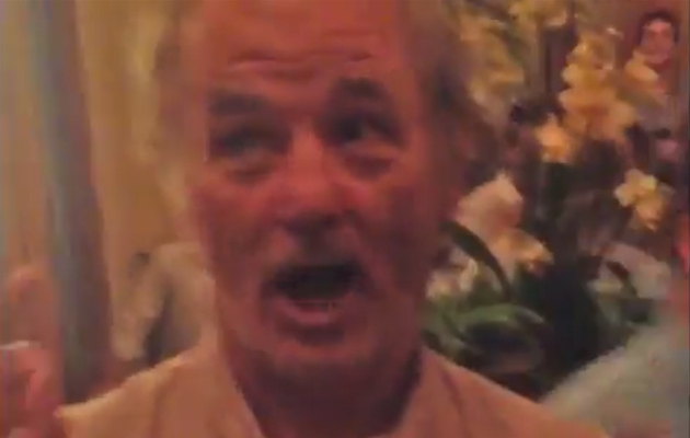 Video: Bill Murray Crashes Bachelor Party, Gives Groom Sage Advice