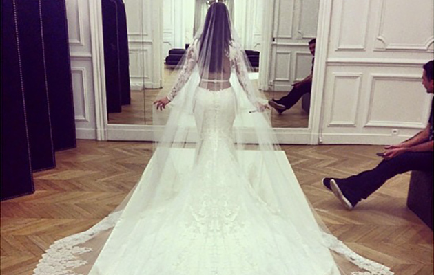 Kim Kardashian Flaunts Famous Booty In New Wedding Dress Photo