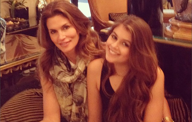 Cindy Crawford and Mini-Me Daughter Kaia, 12, Pose in Paris