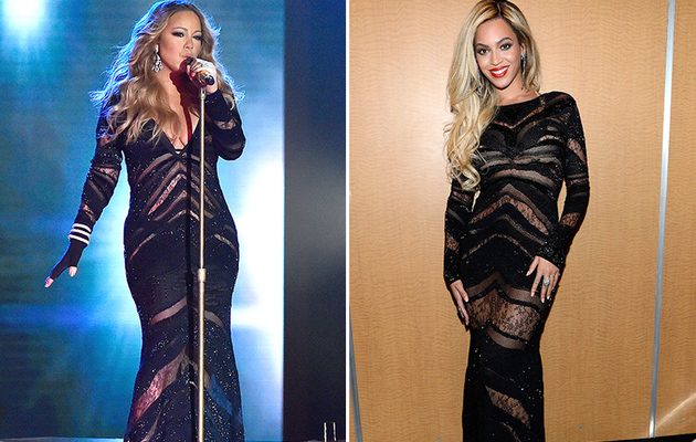 Dueling Dresses: Mariah Carey vs. Beyonce